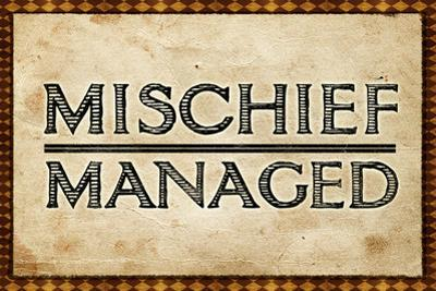 Mischief Managed Movie Print Plastic Sign