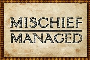 Mischief Managed Movie Print Poster