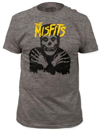 Misfits - Classic Skull Yellow Logo  (slim fit)