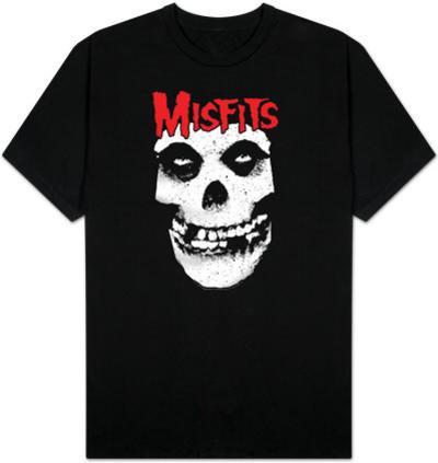 Misfits - Red logo Misfits skull