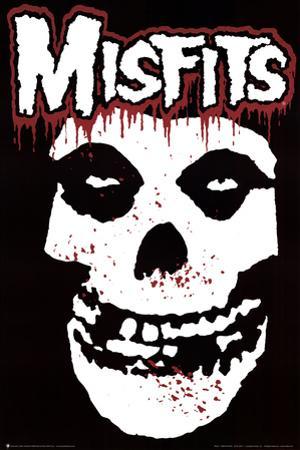Misfits (Skull, Splatter) Music Poster Print