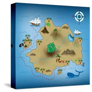 Pirate Treasure Map by miskokordic