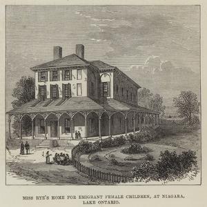 Miss Rye's Home for Emigrant Female Children, at Niagara, Lake Ontario