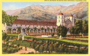 Mission and Grounds, Santa Barbara, California