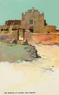 Mission at Laguna Pueblo, New Mexico