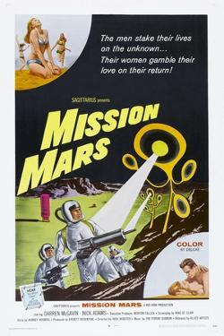 MISSION MARS, US poster, bottom right: Nick Adams, Heather Hewitt, 1968