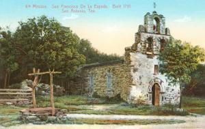 Mission San Francisco de la Espada, San Antonio, Texas