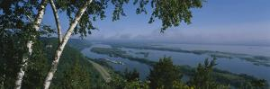 Mississippi River, Great River Road, La Crescent, Houston County, Minnesota, USA