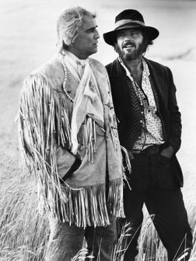 Missouri Breaks by Arthur Penn with Marlon Brando and Jack Nicholson, 1976 (b/w photo)
