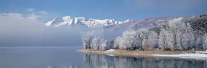 Mist over a Lake, Mt. Timpanogos Deer Creek State Park, Utah, USA
