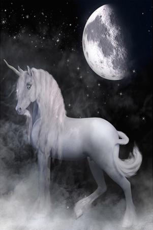 Misty Unicorn and Night Moon