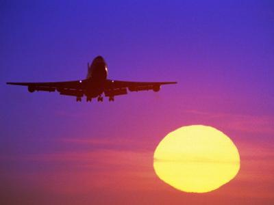 Airplane at Sunset by Mitch Diamond