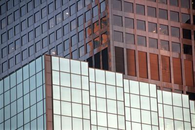 Los Angeles Buildings Abstract by Mitch Diamond