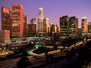 Los Angeles Skyline, California by Mitch Diamond
