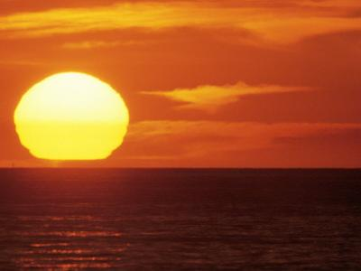 Sunset Over the Pacific by Mitch Diamond