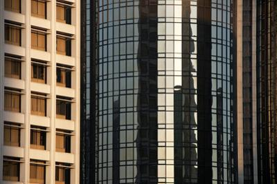 Sunset Reflections on Downtown Buildings by Mitch Diamond