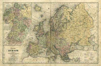 Embellished Map of Europe