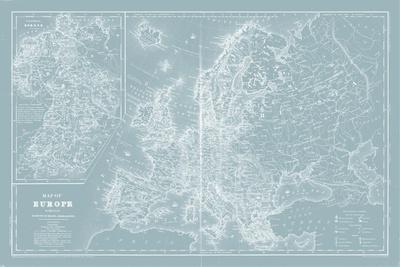 Map of Europe on Aqua