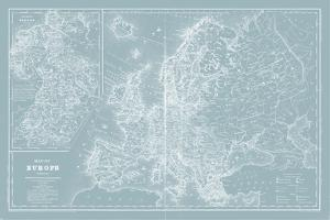 Map of Europe on Aqua by Mitchell