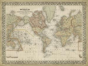 Mitchell's World Map by Mitchell