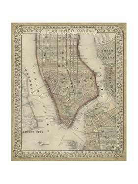 Plan of New York by Mitchell