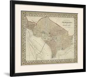 Plan of Washington, D.C. by Mitchell