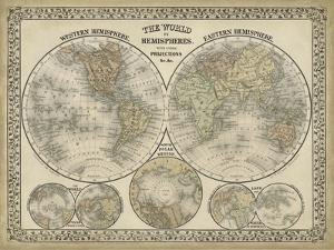 The World in Hemispheres by Mitchell