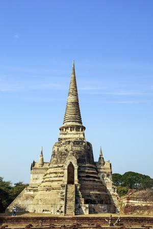 Ayutthaya, Thailand. The temples of Wat Phra Mahathat by Miva Stock