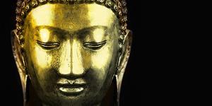 Bangkok, Thailand. Depiction of head and face of Buddha by Miva Stock