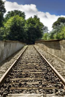 Berlin-Grunewald, Germany. Train Platform 17, Holocaust Memorial where 50,000 Jews were deported to by Miva Stock