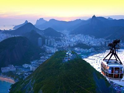 Cable Car to Sugar Loaf Mountain, Rio De Janiero, Brazil by Miva Stock