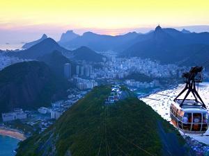 Cable Car to Sugar Loaf Mountain, Rio De Janiero, Brazil by Miva Stock