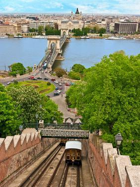 Castle Hill Funicular, Budapest, Hungary by Miva Stock