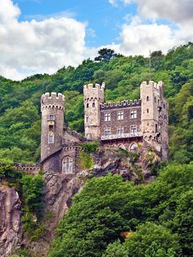 Castle Rheinstein, Rheinland-Pflaz, Germany by Miva Stock