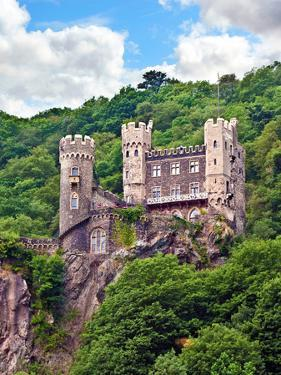 Castle Rheinstein, Rheinland-Pflaz, Germany by Miva Stock