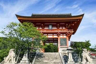 Kyoto, Japan. Main entrance gate to the Kiyomizudera temple, a UNESCO World Heritage Site by Miva Stock