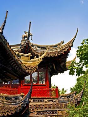 Pagoda at Yuyuan Garden, Old Town, Shanghai, China by Miva Stock