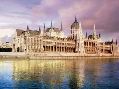 Parliament Building and Danube River, Budapest, Hungary by Miva Stock
