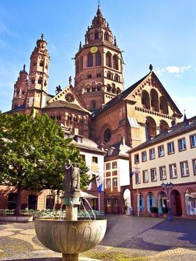 Saint Martin's Cathedral, Mainz, Germany by Miva Stock
