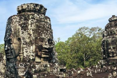 Siem Reap, Cambodia. Ancient ruins and towers of the Bayon Temple in Angkor Thom by Miva Stock