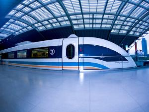 The Maglev Train, Fastest Train in the World, Shanghai, China by Miva Stock