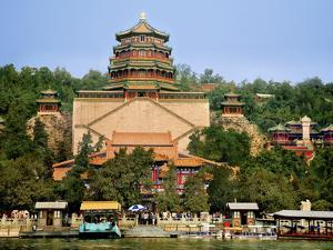 The Pavilion of Buddhist Fragrance, at the Summer Palace, Beijing, China by Miva Stock