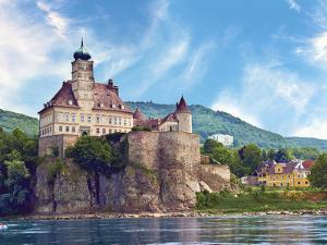 The Stunning Schonbuhel Castle Sits Above the Danube River Along the Wachau Valley of Austria by Miva Stock