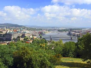 View of the Danube River, Budapest, Hungary by Miva Stock