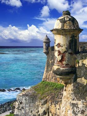 Watchtower, Fort San Felipe Del Morro, San Juan, Puerto Rico, USA, Caribbean by Miva Stock