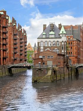 Waterfront Warehouses and Lofts in the Speicherstadt Warehouse District of Hamburg, Germany, by Miva Stock