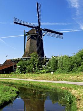 Windmills, Zaanse Schans, Zaanstad, Netherlands by Miva Stock