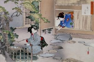 The Entrance to the Tea Rooms, C1886-1908 by Mizuno Toshikata