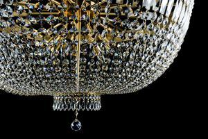 Closeup Contemporary Glass Chandelier by mj_23