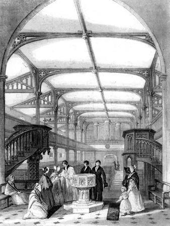 Choir of St Martin's Church, Dorking, Surrey, 19th Century